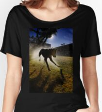 Dogs with game face on .20 Women's Relaxed Fit T-Shirt