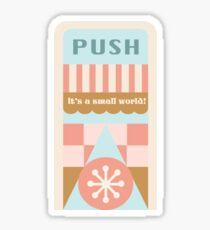 Small World Trash Can Design Sticker