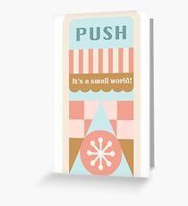 Small World Trash Can Design Greeting Card