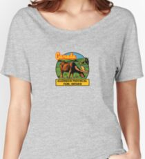 Algonquin Provincial Park Ontario Vintage Travel Decal Women's Relaxed Fit T-Shirt