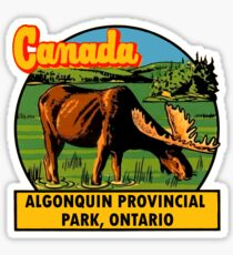 Algonquin Provincial Park Ontario Vintage Travel Decal Sticker
