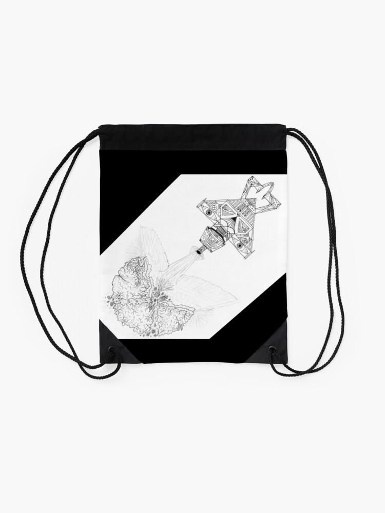 Alternate view of M.I. #3  ☽  Asteroidestroya Drawstring Bag