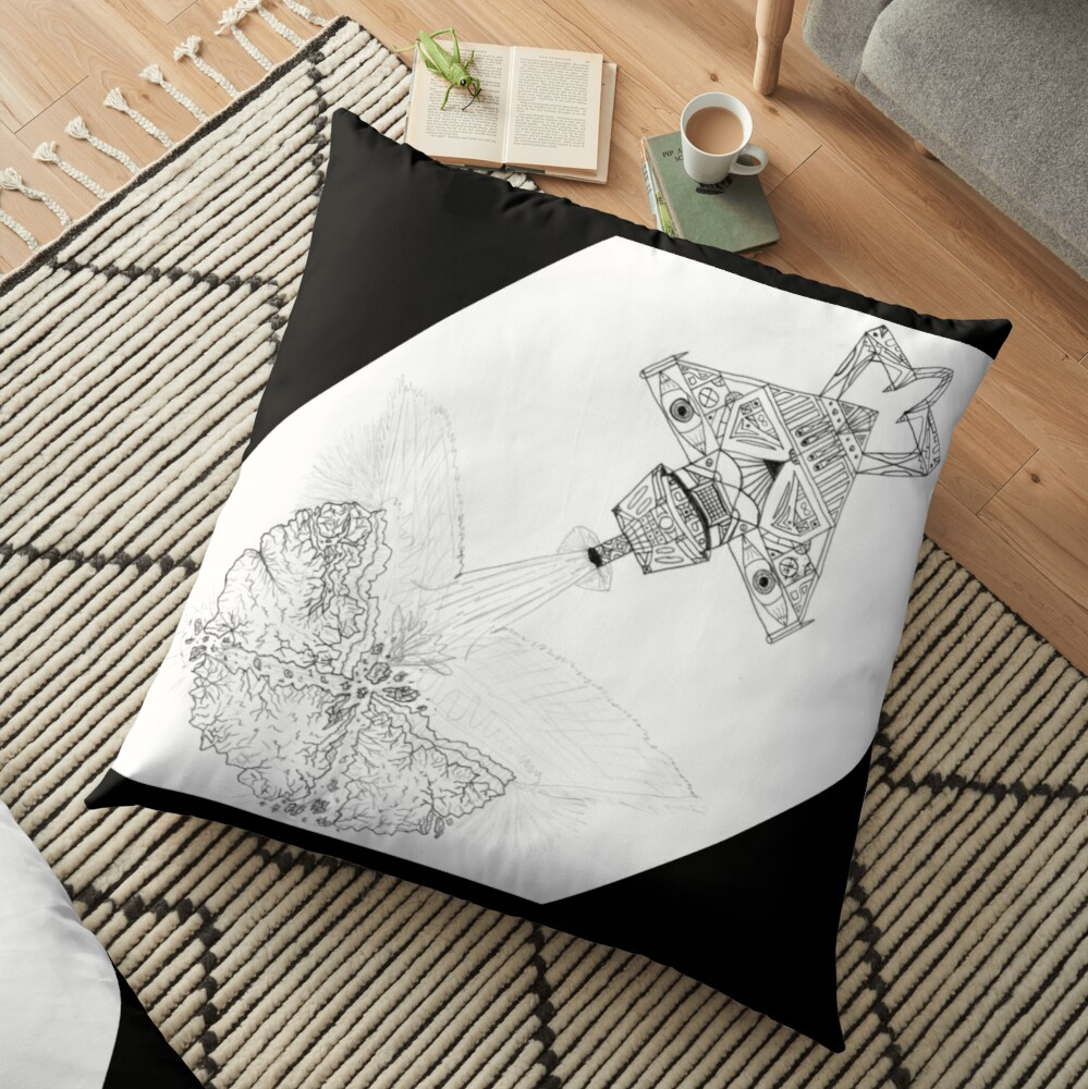 M.I. #3  ☽  Asteroidestroya Floor Pillow