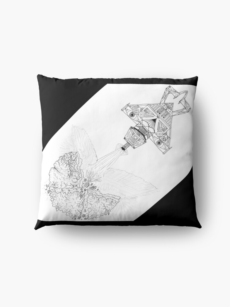 Alternate view of M.I. #3  ☽  Asteroidestroya Floor Pillow