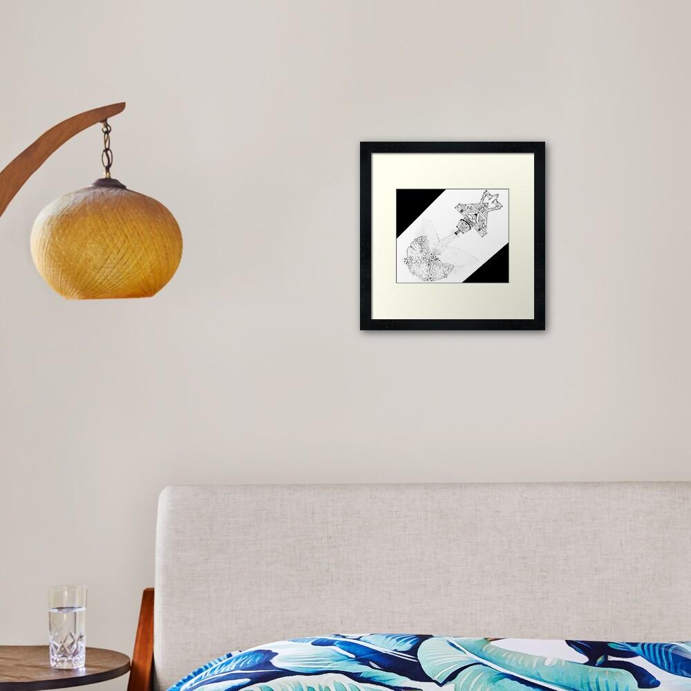 M.I. #3 |☽| Asteroidestroya Framed Art Print