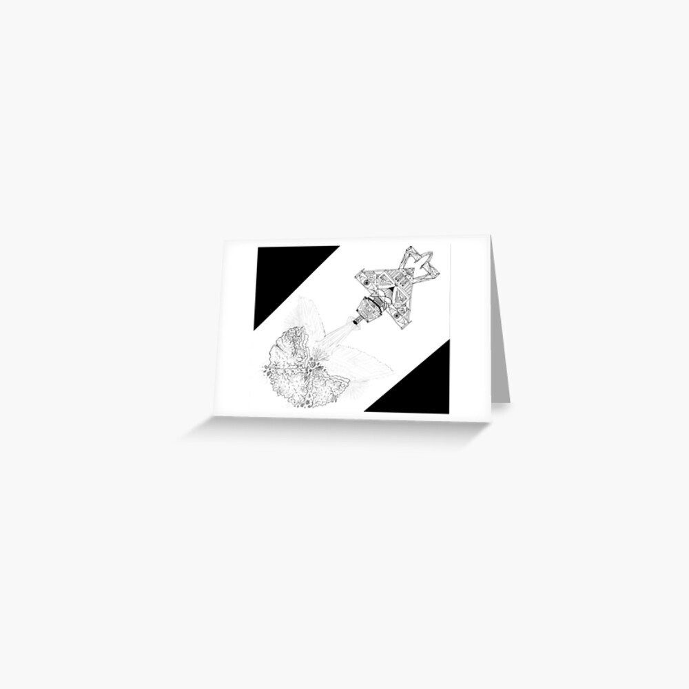 M.I. #3  ☽  Asteroidestroya Greeting Card