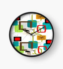 Mid Century Atomic Age Inspired Abstract Clock