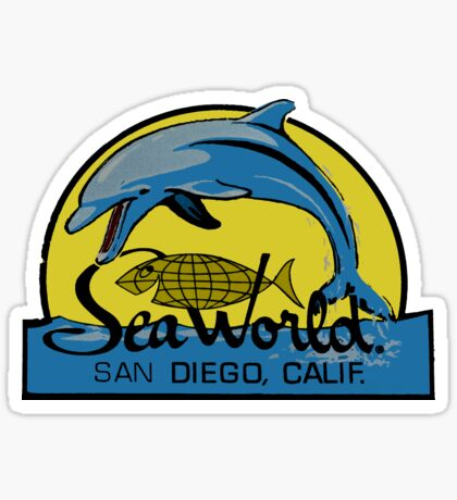 Sea World San Diego Vintage Travel Decal Sticker