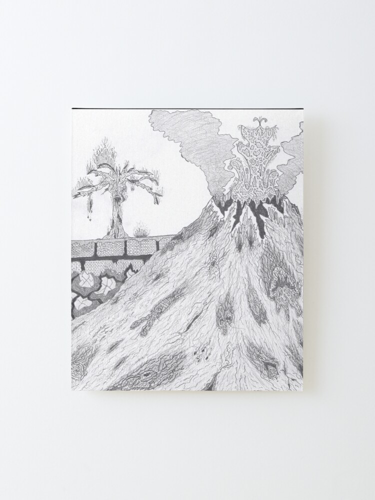Alternate view of M.I. #36 |☽| Marblava Volcanicity Mounted Print