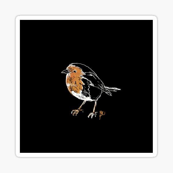 Little Orange Robin Bird Sticker