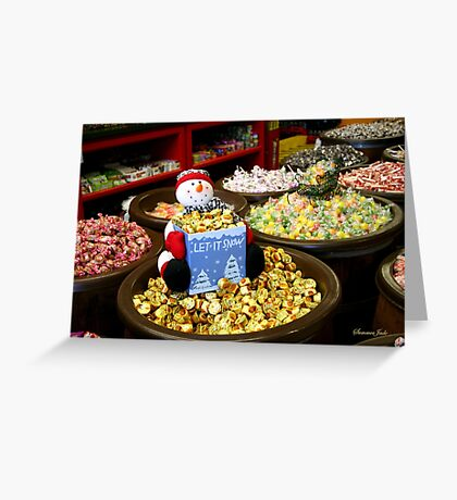 Preparing for Winter in the Candy Store  Greeting Card