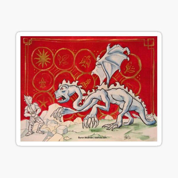 The Jabberwock (Medieval Illustration) Sticker