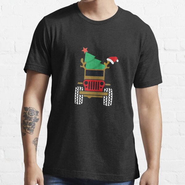 Christmas Elf Riding Monster Truck Essential T-Shirt