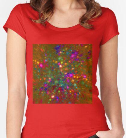 Autumn #fractal art Women's Fitted Scoop T-Shirt