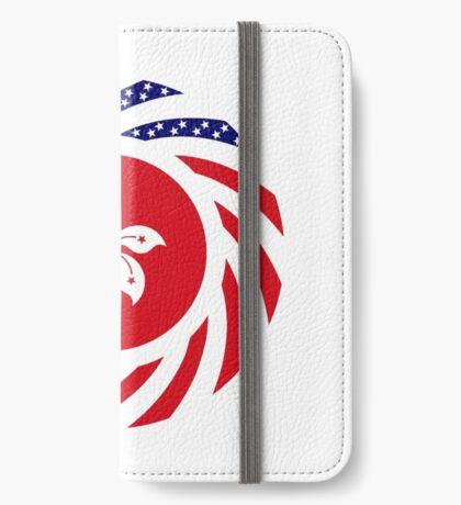 Hong Kong American Multinational Patriot Flag Series iPhone Wallet
