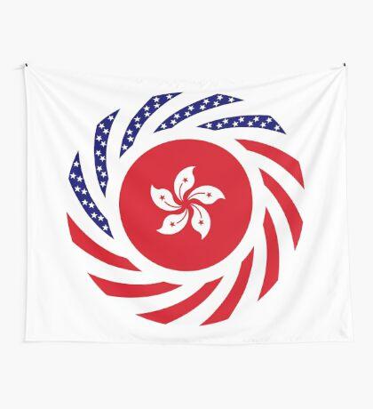 Hong Kong American Multinational Patriot Flag Series Wall Tapestry