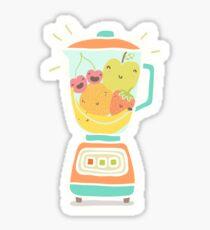 Funny fruits in blender Sticker