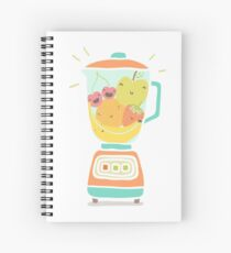 Funny fruits in blender Spiral Notebook
