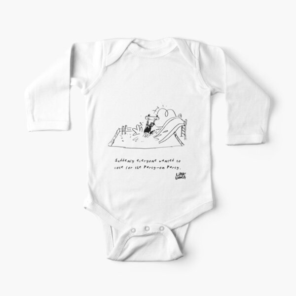 Little Lunch: The Election Long Sleeve Baby One-Piece