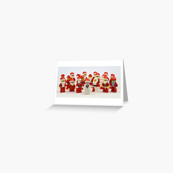 """Santa Showdown """"There Can Be Only One"""" Greeting Card"""