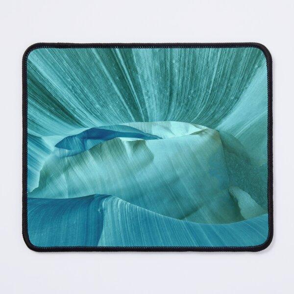 Arctic Blue Sand Dune Print Mouse Pad