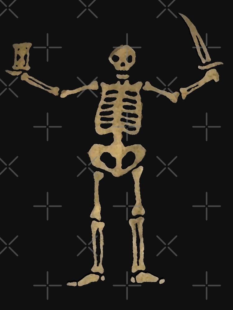 Black Sails Pirate Flag Skeleton - Worn look | Unisex T-Shirt