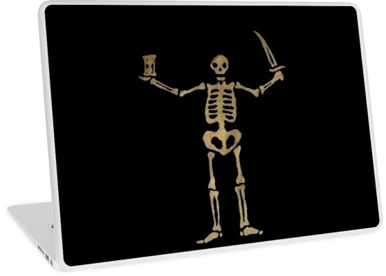 Quot Black Sails Pirate Flag Skeleton Worn Look Quot Laptop