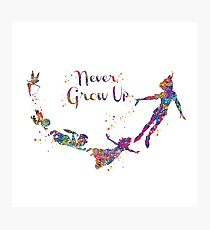 Never Grow Up Color Full Photographic Print