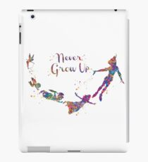 Never Grow Up Color Full iPad Case/Skin