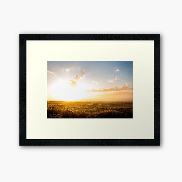Sleepless sunrise - field Framed Art Print