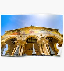 Israel, Jerusalem the facade of Church of all Nations Poster