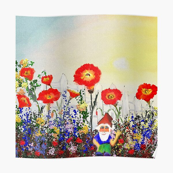 Gnome and His Garden Poster