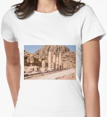 Jordan, Petra, UNESCO World Heritage Site Womens Fitted T-Shirt