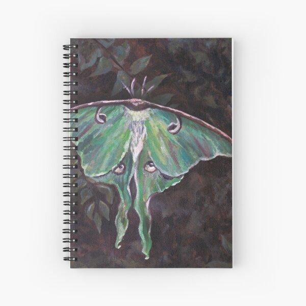 Luna Moth, oil on canvas Spiral Notebook