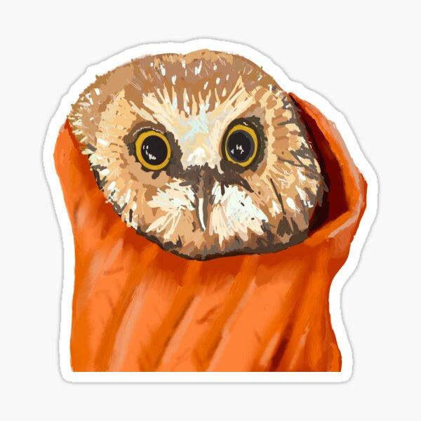 Rocky Christmas tree owl  Sticker