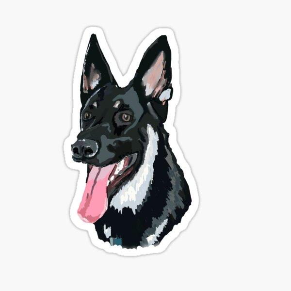 Major first dog Sticker