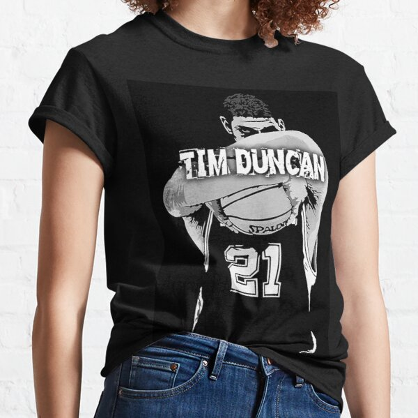 TIM DUNCAN BLACK Classic T-Shirt