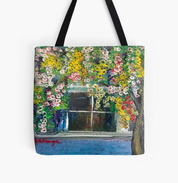 Cottage  in Elmwood District,  Berkeley in the 50s All Over Print Tote Bag