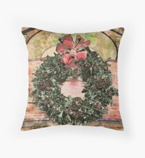 Joyful Wreath Throw Pillow