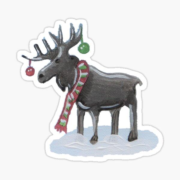 Festive Moose Sticker