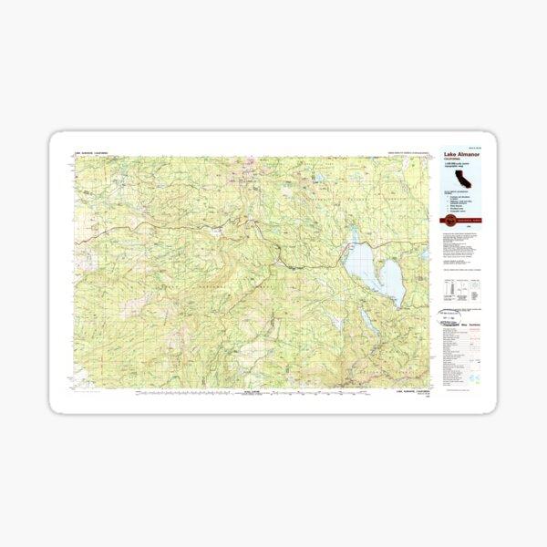 USGS TOPO Map California CA Lake Almanor 299102 1989 100000 geo Sticker