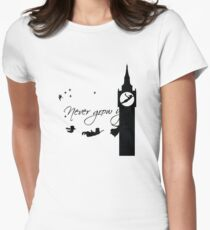 Never Grow up Peter Pan Second Womens Fitted T-Shirt