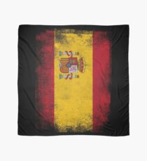 Spain Flag Proud Spanish Vintage Distressed Shirt Scarf