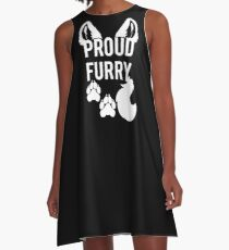 PROUD FURRY A-Line Dress