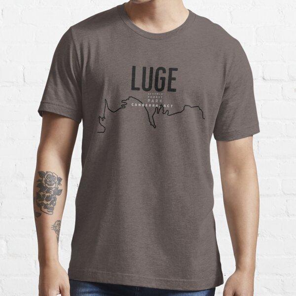 Luge, Stromlo Forest Park, Canberra, ACT, Australia- Black Line Essential T-Shirt