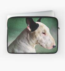 Bull Terrier on Green Laptop Sleeve