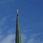 Angel Statue - London Temple by BlueMidnight
