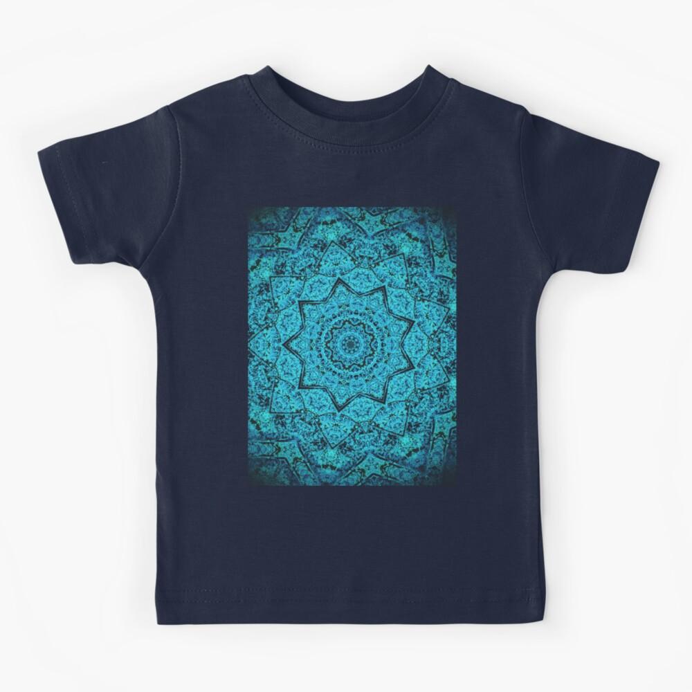 Divine Turquoise Mandala Kids T-Shirt