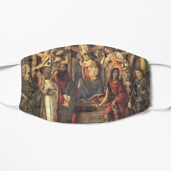 Botticelli Sandro  (1445-1510) Virgin and Child with Saints from the Altarpiece of San Barnabas (1488) Flat Mask