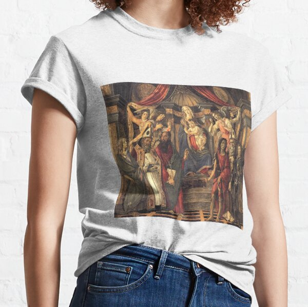 Botticelli Sandro  (1445-1510) Virgin and Child with Saints from the Altarpiece of San Barnabas (1488) Classic T-Shirt